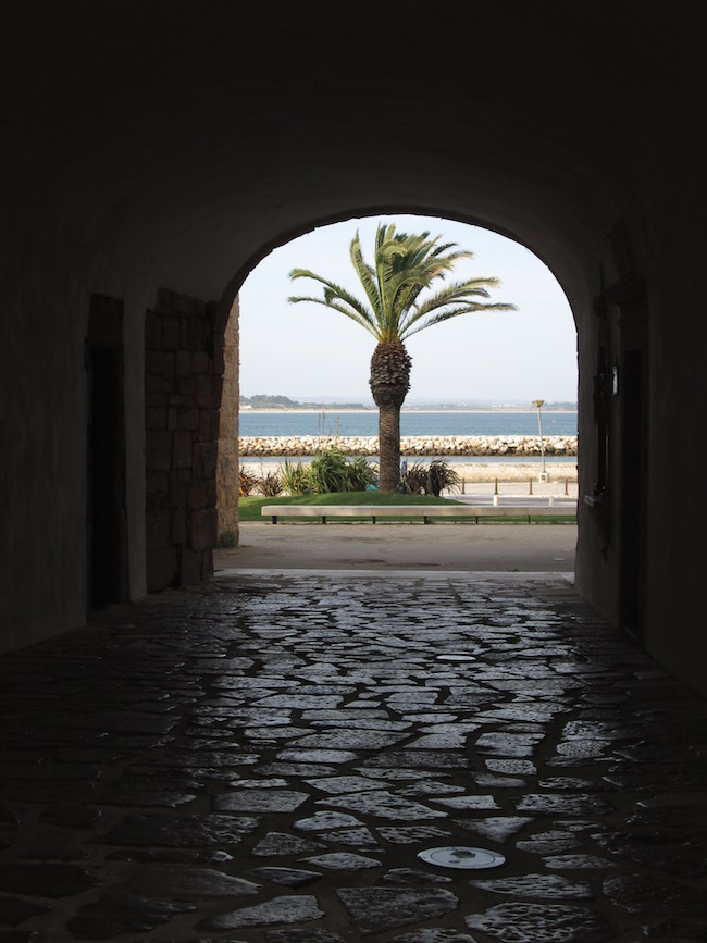 View of the ocean from the old fort in Lagos.
