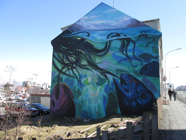 Reykjavik Street Art - Marine