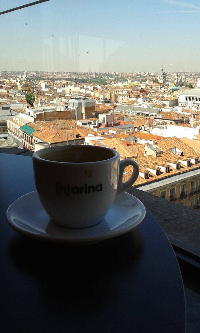 Coffee in Madrid, Spain