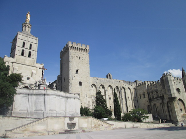Avignon - city square view of Pope's Palace