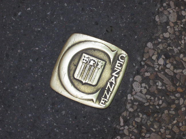 These small plaques were embedded into streets and sidewalks throughout Aix-en-Provence to identify the Cezanne self-guided walking tour.
