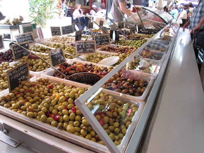 I was so tempted to try every different type of olive!