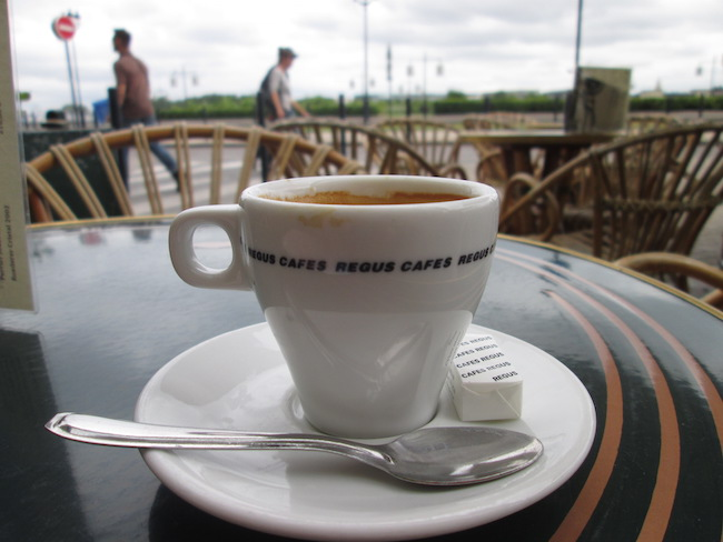 Coffee in Bordeaux, France