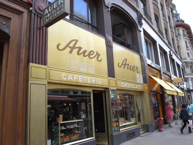 Auer Chocolate Cafeteria Geneva Switzerland