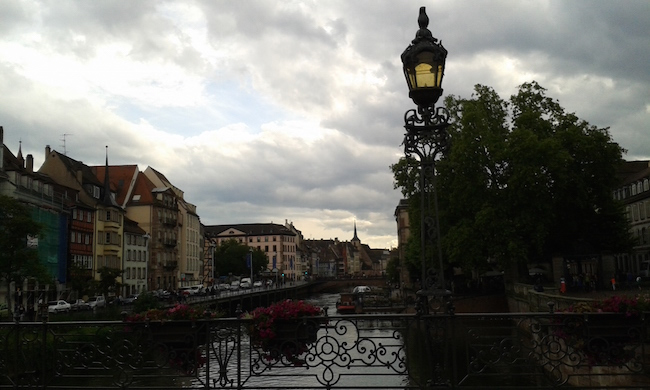 Evening walk in Strasbourg