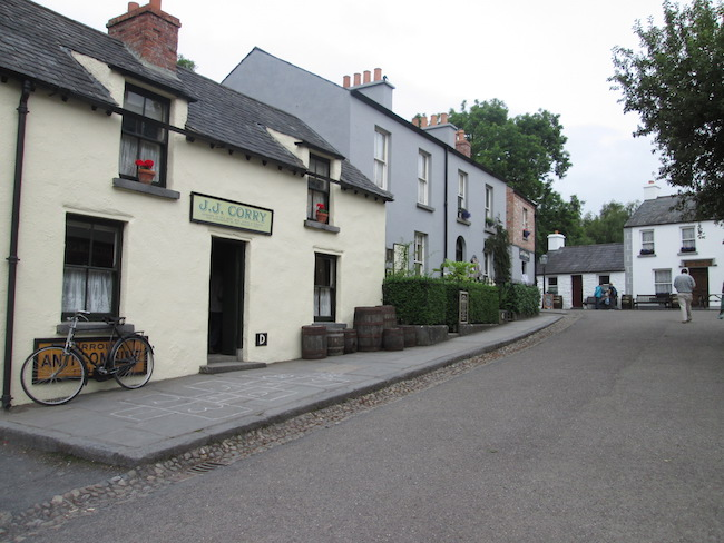 A village on the Bunratty Castle grounds