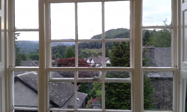 The view from my youth hostel window!