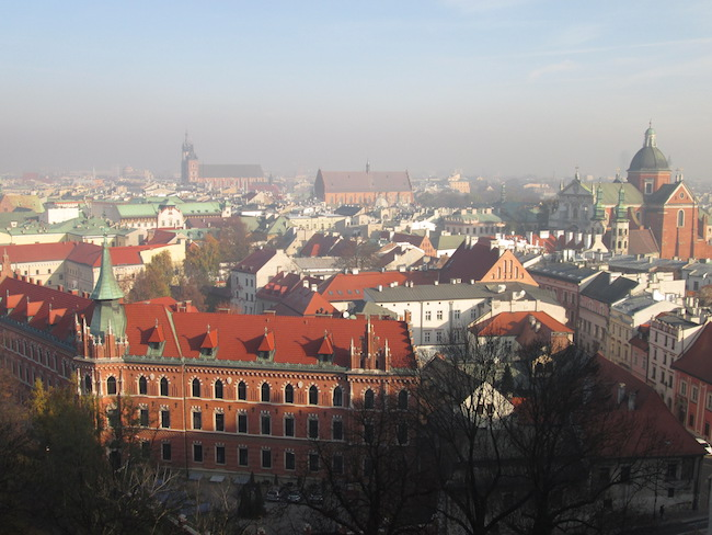 View of Krakow from Wawel Cathedral
