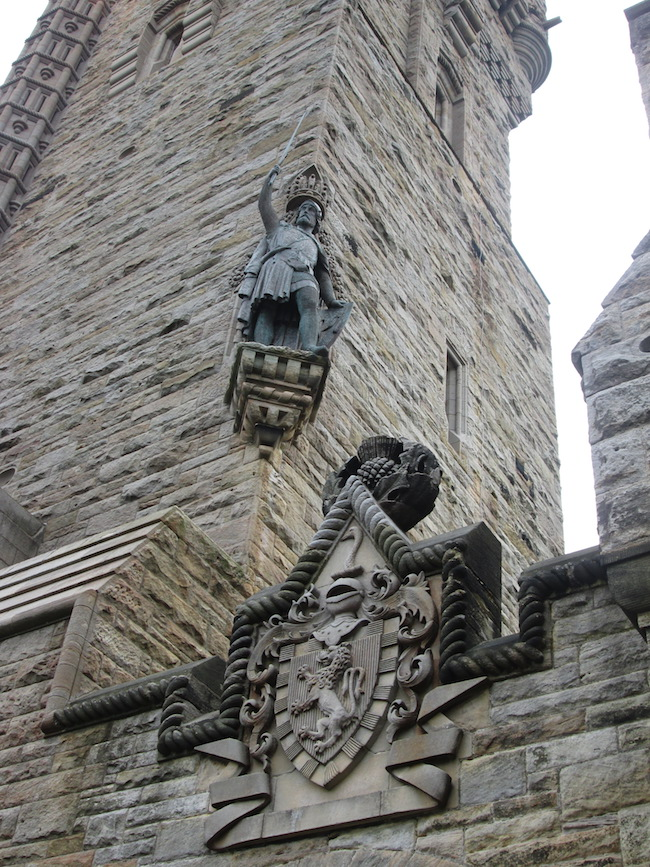 The William Wallace statue above the entrance to the monument