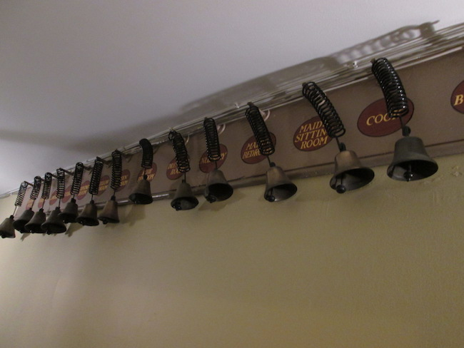 Bells in the downstairs servants' quarters...just like Downton Abbey!