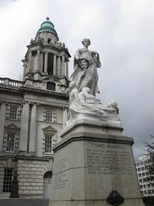 Belfast City Hall and the Titanic monument