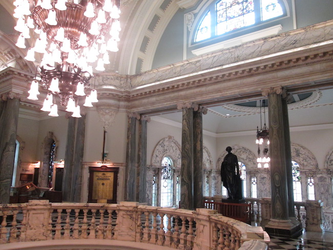 The interior of Belfast City Hall is impressive