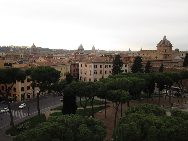 A view of Rome from the Victor Emmanuelle II monument