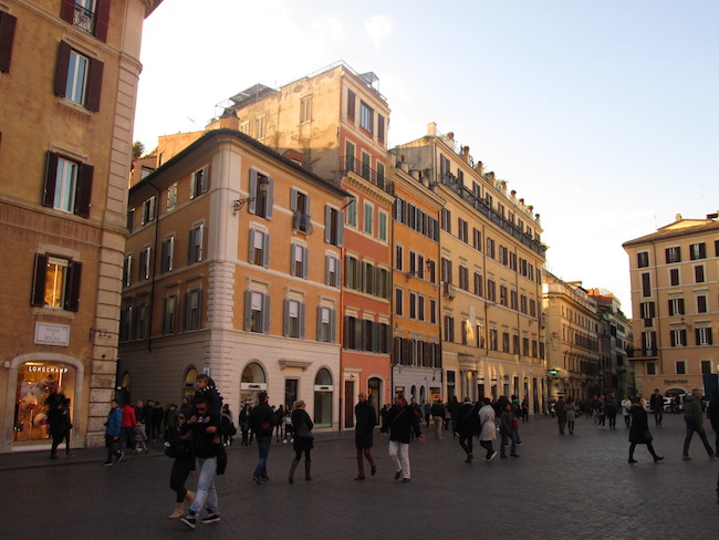 The lovely Piazza de Spagna