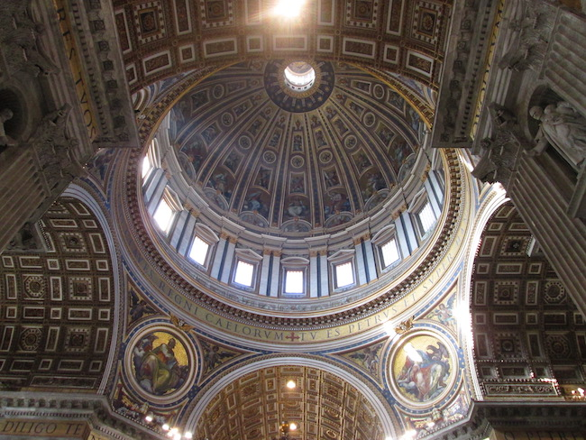 Interior of dome of St. Peter's