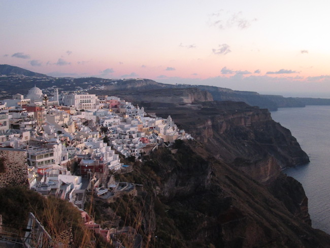 Fira, Santorini at sunset