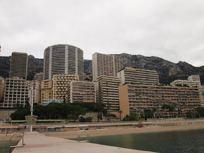 Monaco beach with a view of Bond's apartment