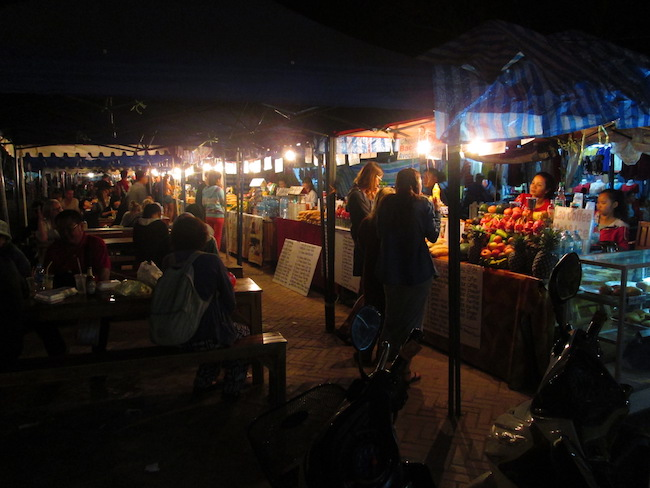 Food vendors at the night market